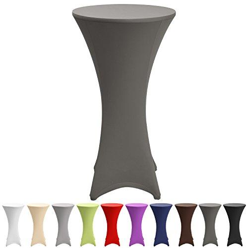 Beautissu-Stretch-Stehtisch-Husse-Stella-fr-Bistrotisch--70-75-cm-elegante-Stretch-Husse-anthrazit-als-Tisch-berzug