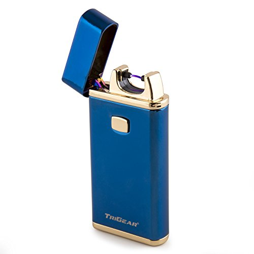 TriGear Elite Series Windproof USB Rechargeable Marine Blue Electric Arc Coil Lighter (Elite Electronic Cigarette compare prices)