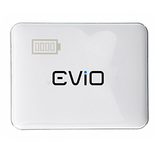 EViO Dual Port 5600 mAh Power Bank (White) - Support for Mobiles, iPhones, Tablets, Mp3, Mp4 Players