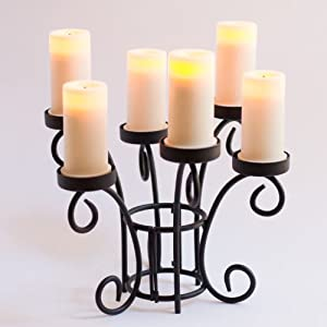 Candle Impressions Ella Scroll Centerpiece with 6 Votive Candles