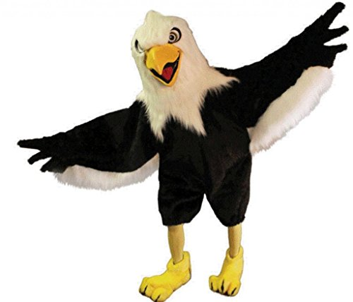 Costume City Men's Battlin' Bald Eagle Mascot One Size Black