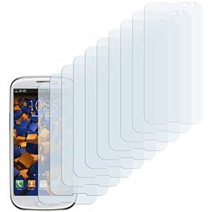 10 x mumbi Displayschutzfolie Samsung Galaxy S3 Schutzfolie (bewusst kleiner als das Display, da dieses gewölbt ist)