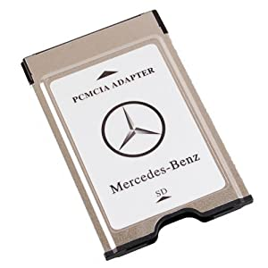 Original mercedes benz pcmcia to sd pc card adapter for Pcmcia card for mercedes benz
