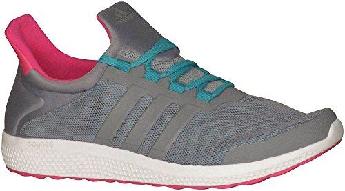 adidas Performance Women's Cc Sonic W Running Shoe, Grey/Grey/Shock Green, 8 M US