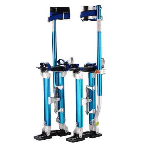 "Pentagon Tools 1117 Drywall Stilts, 18"" to 30"" Height, Blue"
