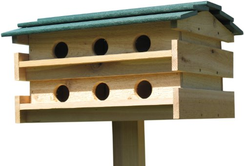 Backyard Boys Woodworking BBW11G Purple Martin House with Green roof