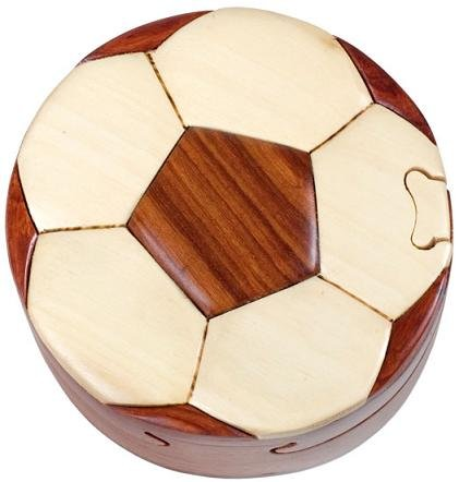 Picture of Fun Soccer Ball - Secret Wooden Puzzle Box (B002P8RQZ2) (Brain Teasers)