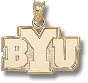Brigham Young (BYU) Cougars BYU 1 2 Pendant - 14KT Gold Jewelry by Logo Art