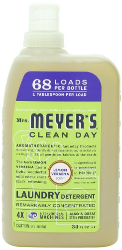 Mrs Meyer's Laundry Detergent Lemon Verbena 68 Load 34 fl oz