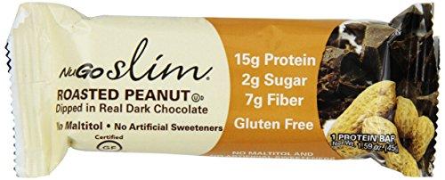 NuGO Slim Roasted Peanut, 1.59-Ounce (Pack of 12)