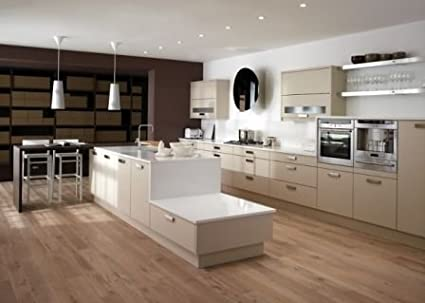 CK Kitchens Fresco Beige Slab Kitchen Door,Rigid Built Kitchens,Modern Kitchens