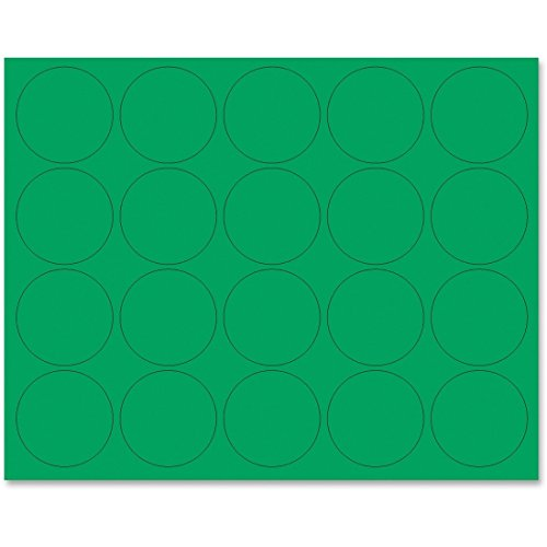 MasterVision Magnetic Color Coding Dots, 3/4 Inch Diameter, Green, Pack of 20 (FM1602)