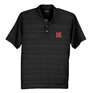 Nebraska Cornhusker Performance Polo Black by Vantage