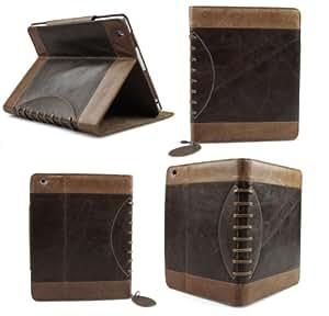 Bear Motion Luxury Buffalo Hide Vintage Leather Case for iPad 2/3/4, Vintage brown (BMIPAD3VGBN)