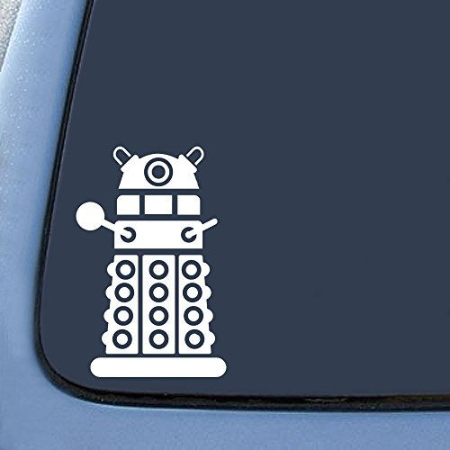 "Bargain Max DALEK Sticker Decal Notebook Car Laptop 4"" (White)"