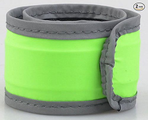 [1 Pack for 2 PCS Wetpia Led Slap Band Glow Bracelet Running Armaband (Green)] (Billiard Girl Costume)