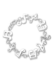 HMILYDYK New fashionable music symbol 925 silver jewellery bracelet
