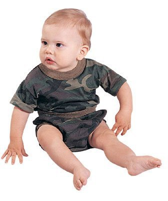 Infant Woodland Camouflage T-Shirt rothco vintage olive drab air corp t shirt