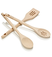 3 Pack Wooden Utensil Set