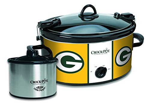 Crock-Pot Green Bay Packers NFL Cook & Carry Slow Cooker with Bonus 16-ounce Little Dipper Food Warmer (Green Bay Packer Crock Pot compare prices)