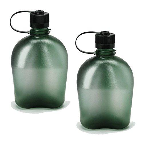 Nalgene Oasis 1Qt Canteen Bottle - 2 Pack (Foliage) front-462179