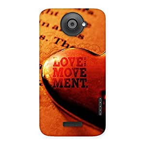 Gorgeous Love Movement Back Case Cover for HTC One X