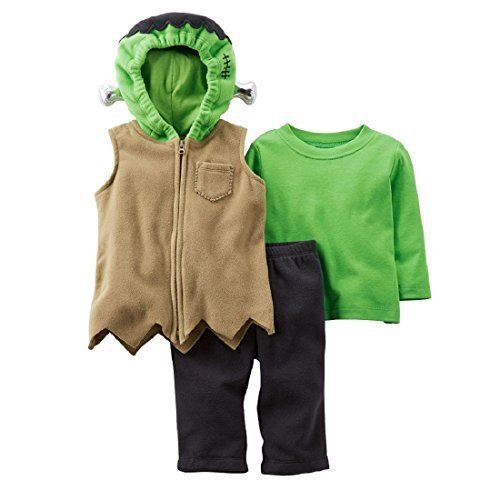 [Carter's Halloween Baby Frankenstein Costume 3 Pcs Vest Pants Tee Shirt (3-6 months)] (Boys Frankenstein Costumes)