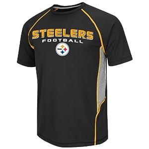 NFL Pittsburgh Steelers Men's Fanfare VI Short Sleeve Tee, Black/Steel/Yellow Gold/White, Large