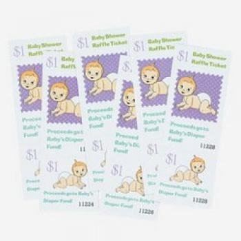Baby Shower Raffle Ticket ~ Fun Game - 1