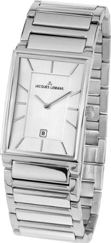 Jacques Lemans York 1-1732A mm Steel Bracelet & Case Mineral Men's Watch