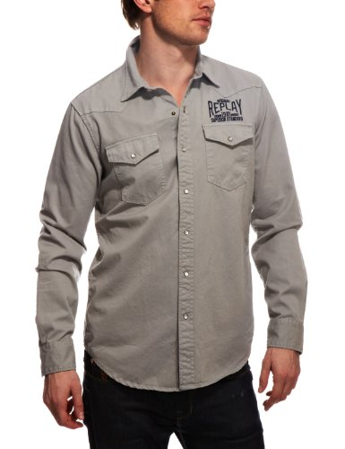 Replay M4665 Mens Shirt Grey Small