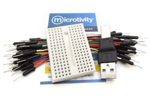 microtivity IB172 170-point Mini Breadboard for Arduino w/ Jumper Wires & USB Adapter