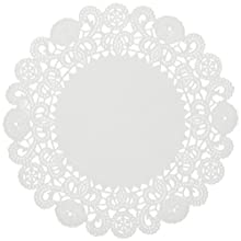 "Brooklace LA920 20"" Round White Bond Lace Doily (Case of 1,000)"