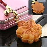 まったり日本のこころを味わう・・・和菓子根付ストラップ(もみじ饅頭)AR0501080