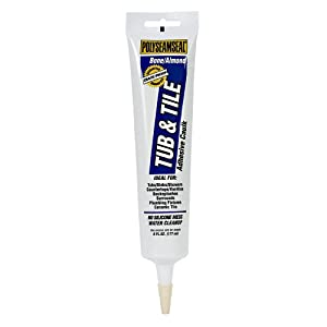 Henkel Polyseamseal 6-Ounce Tub and Tile Squeeze Tube, Almond #DM415P21