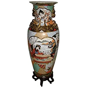 Fine Antique Japanese Satsuma Handpainted Gilded Vase | eBay