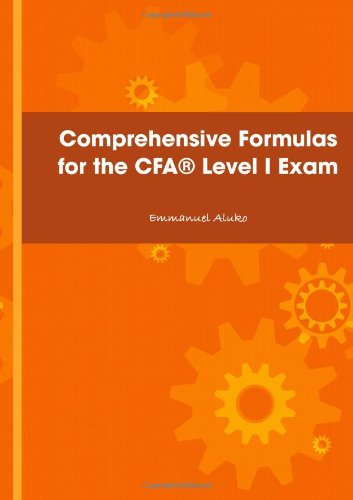Comprehensive Formulas For The Cfaæ Level I Exam