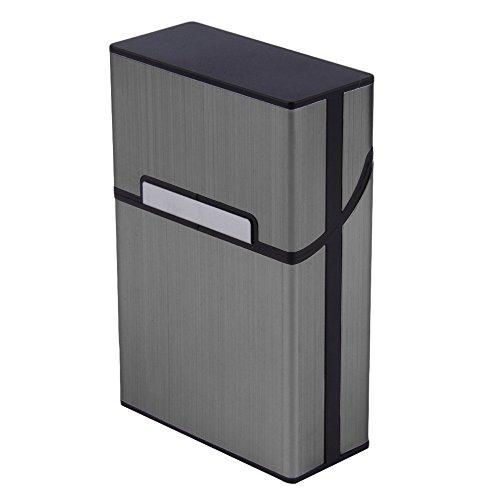 Travel Aluminum Design Durable Cigar Cigarette Case Tobacco Holder Pocket Box Storage (Gray) (Marlboro Cigarettes Box compare prices)