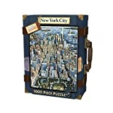 MASTERPIECES 1000 PC PUZZLE NEW YORK CITY SUITCASE