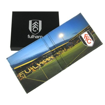 Official Fulham FC Embossed Leather Wallet Panoramic - A Great Christmas, Birthday, Valentine, Anniversary Gift For Husbands, Fathers, Sons, Boyfriends, Friends and Any Avid Fulham Football Club Fan Supporter