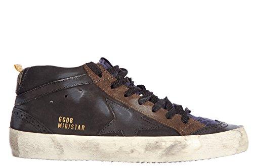 Golden Goose scarpe sneakers alte uomo in pelle nuove mid star vintage marrone EU 39 G26U634 C8