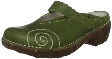 El Naturalista Iggdrasil N096 Damen Clogs & Pantoletten, grün (pino), EU 36