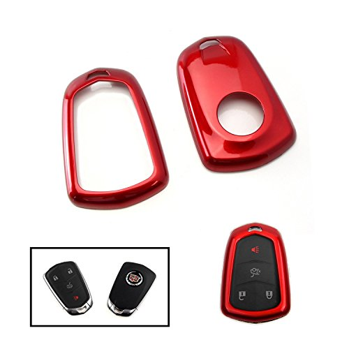 ijdmtoy-1-exact-fit-glossy-red-smart-key-fob-shell-cover-for-2015-up-cadillac-atx-cts-ct6-elr-xts-xt