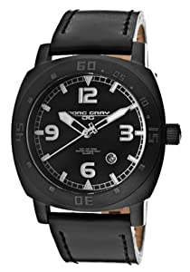Jorg Gray Men's JG1020-11 Black Leather Watch