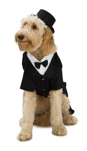 Dapper Dog Tuxedo Pet Costume, Large