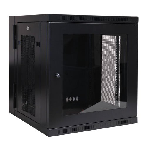 Tripp Lite SRW12USG 12U Wall Mount Rack Enclosure Cabinet with Plexiglass Front Door (Black)