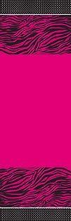 Creative Converting Pink Zebra Boutique Plastic Banquet
