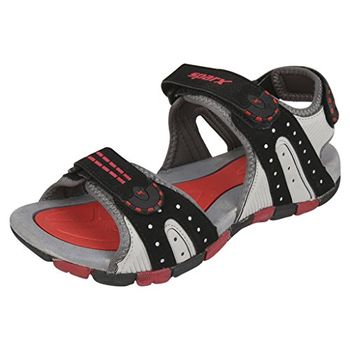 Sparx-Mens-SS0406-Series-Black-Red-Synthetic-Casual-Sandal-8UK