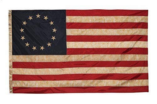 Betsy Ross Vintage Embroidered Flag (Premium Quality Polyester), 3' X 5' (Vintage Flag compare prices)