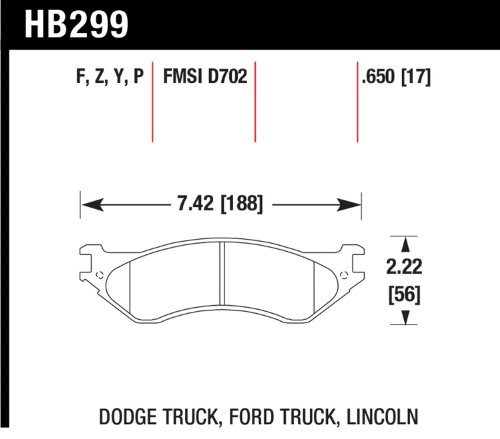 Hawk Performance Hb299Y.650 Lts Brake Pad